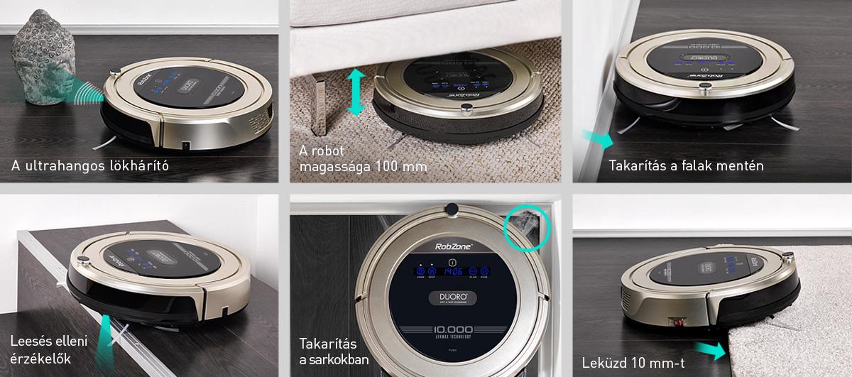 A Duoro XCLEAN robotporszívó fő előnyei
