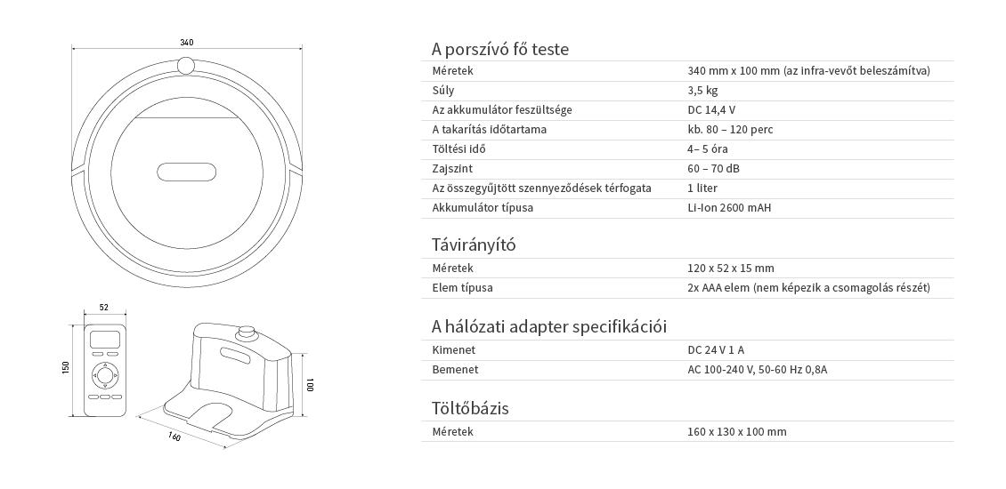 Duoro XCLEAN PROFI extra teljesítményű robotporszívó