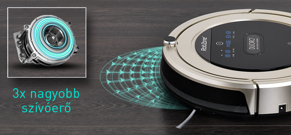 Duoro XCLEAN extra teljesítményű robotporszívó