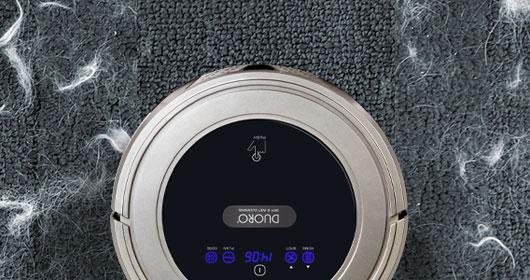Duoro Xclean aspirator robot. Șterge în mod ud cu o umezire treptată a lavetei și având astfel grijă de podeaua sensibilă.