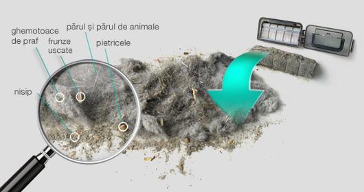 Aspiratorul robot Duoro Xclean aspiră până la 1 litru de impurități și praf..