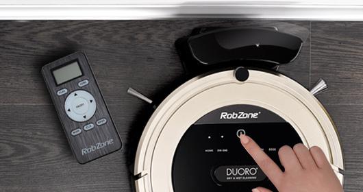 Duoro Xclean este un aspirator robot cu o operare sinoptică. Comunică în engleză.