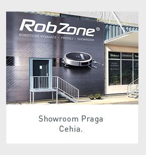 Showroom-ul și magazinul de aspiratoare robot Robzone în Praga, Cehia